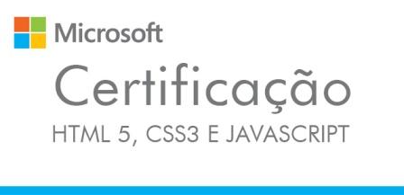 Certificação HTML5, CSS3 e JavaScript